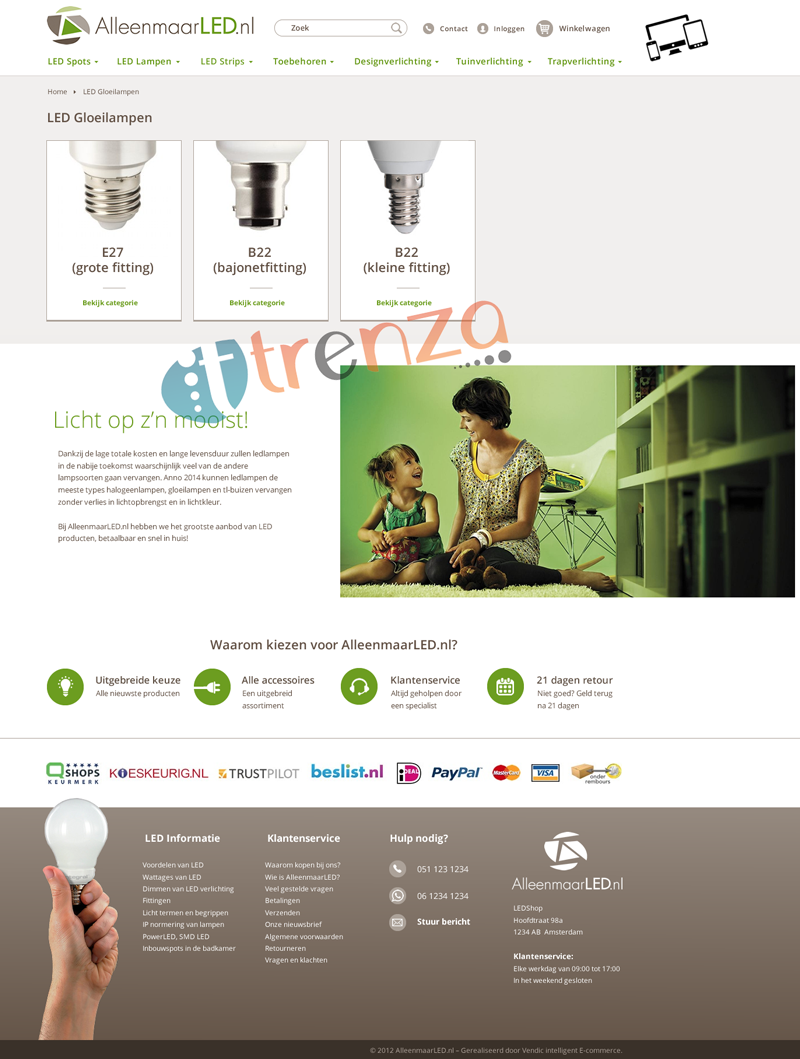 Category Landing Page