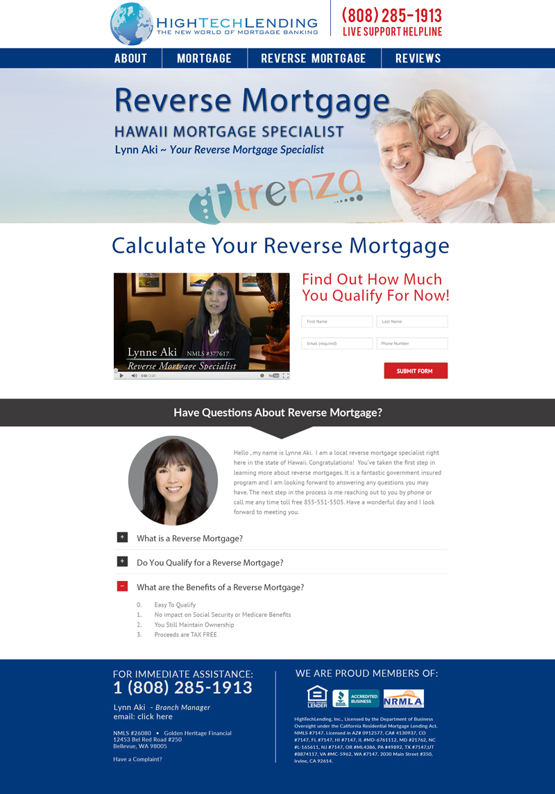Reverse Mortgage Page